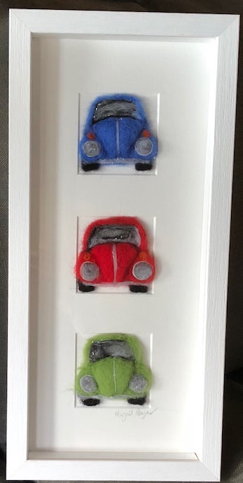 "Image of ""Three in a Box VW Beetle"""