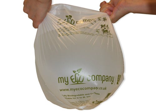 Image of 30 Litre Biodegradable & Compostable Food Waste Bin Bags - 50 Kerbside Caddy Bin Liners