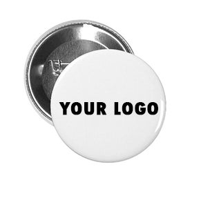 "Custom 1"" Round pin back buttons"