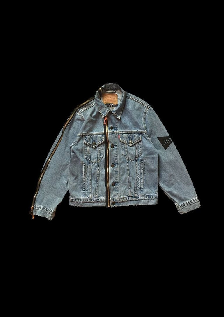 Image of RUBAN DENIM JACKET ZIPPER