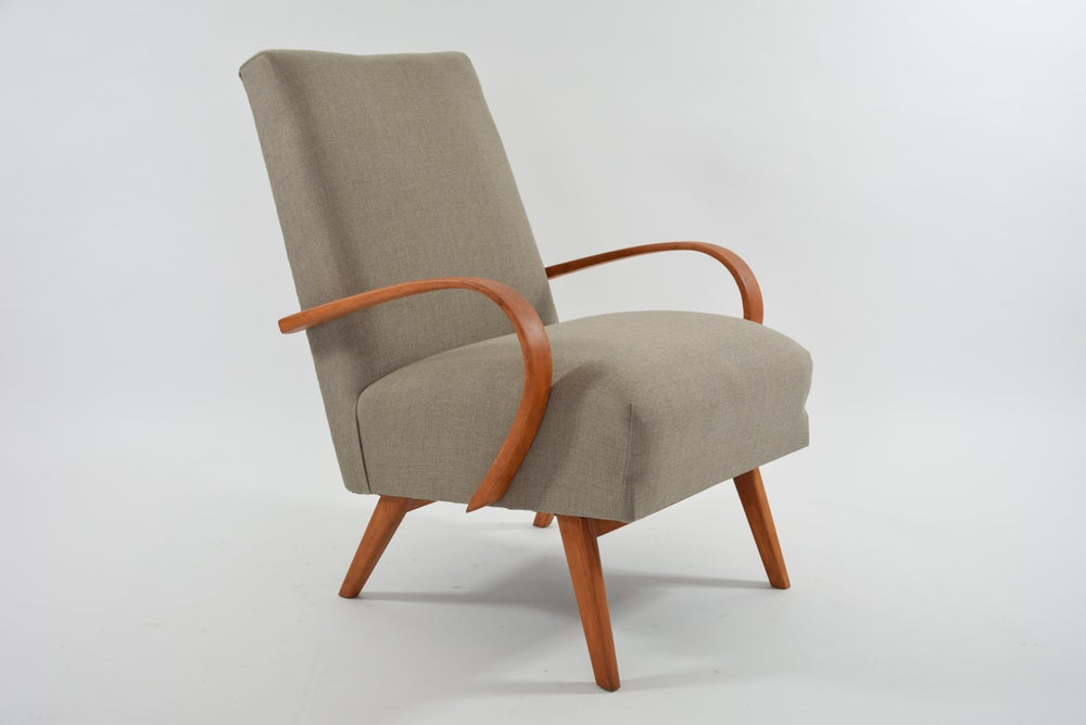 Image of Fauteuil Tchecoslovaque beige
