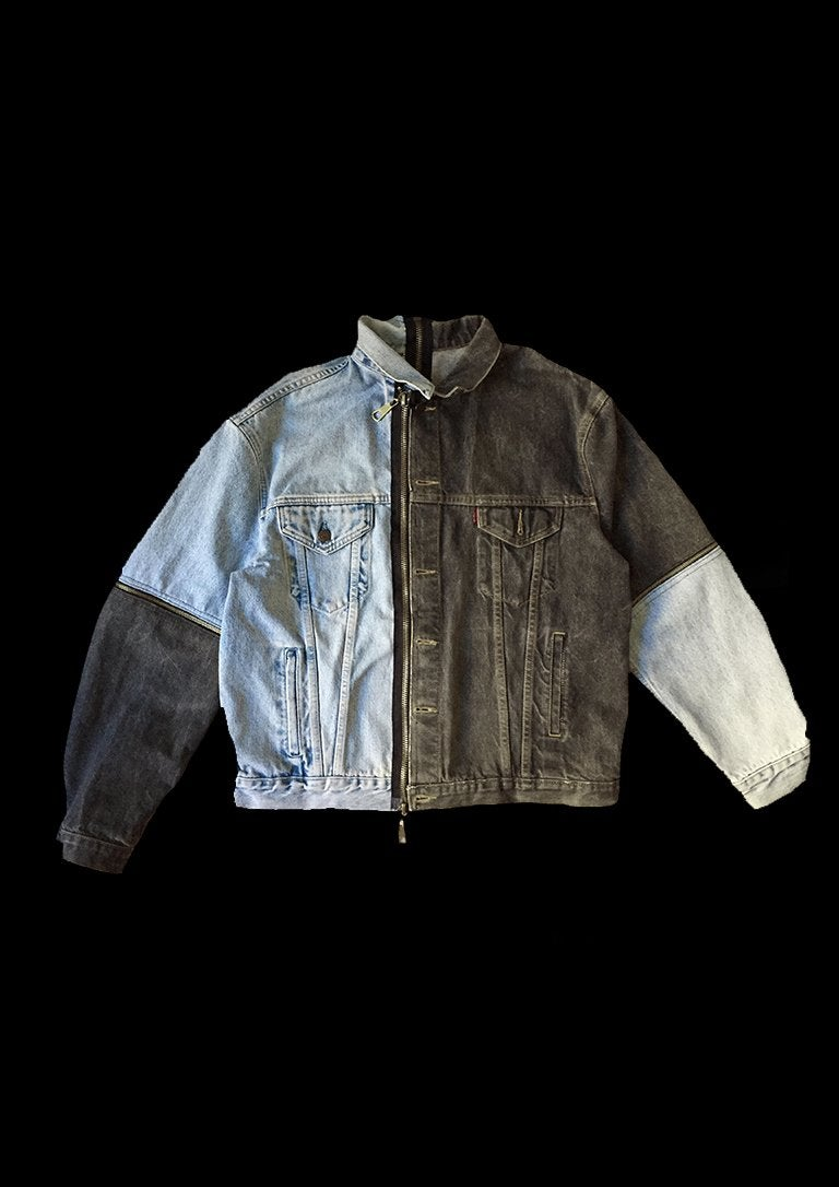 Image of DENIM JACKET ZIPPER PUZZLE