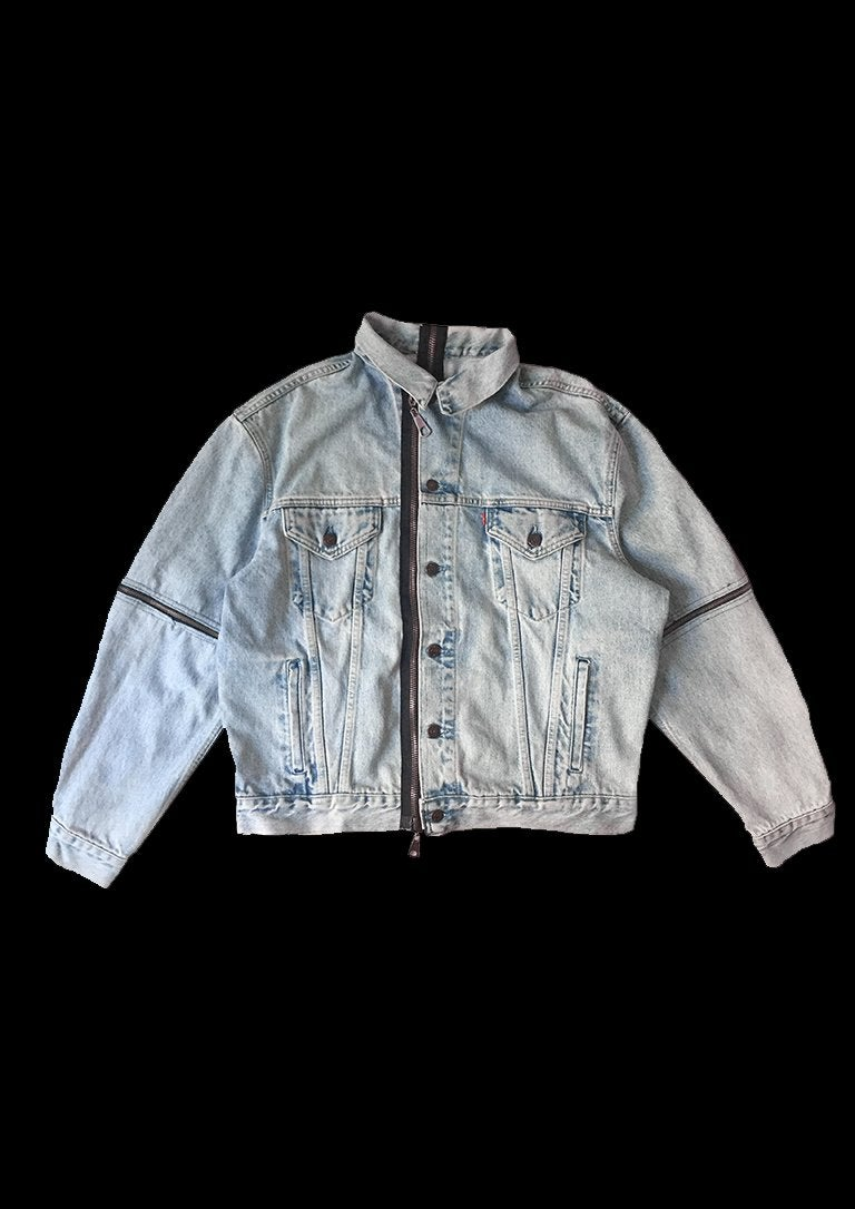 Image of BLUE SLEEVES JACKET ZIPPER