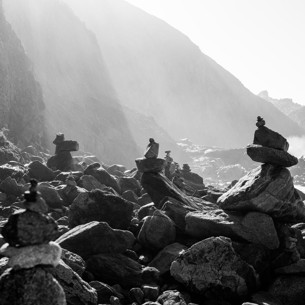 Image of McClure's Beach Totems, Pt. Reyes, CA