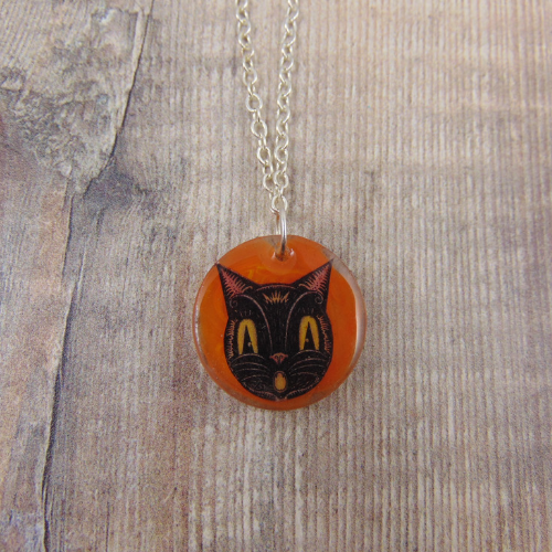 Image of Johanna Parker Cat Circle Pendant