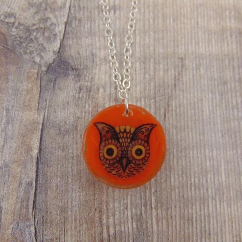 Image of Johanna Parker Owl Circle Pendant