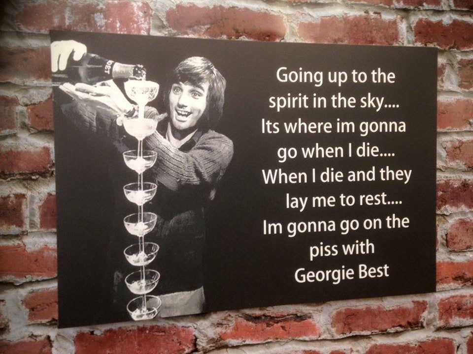 Image of George Best spirit in the sky