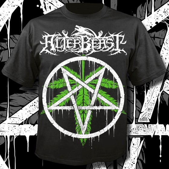 Image of Weed Leaf Pentagram T-Shirt