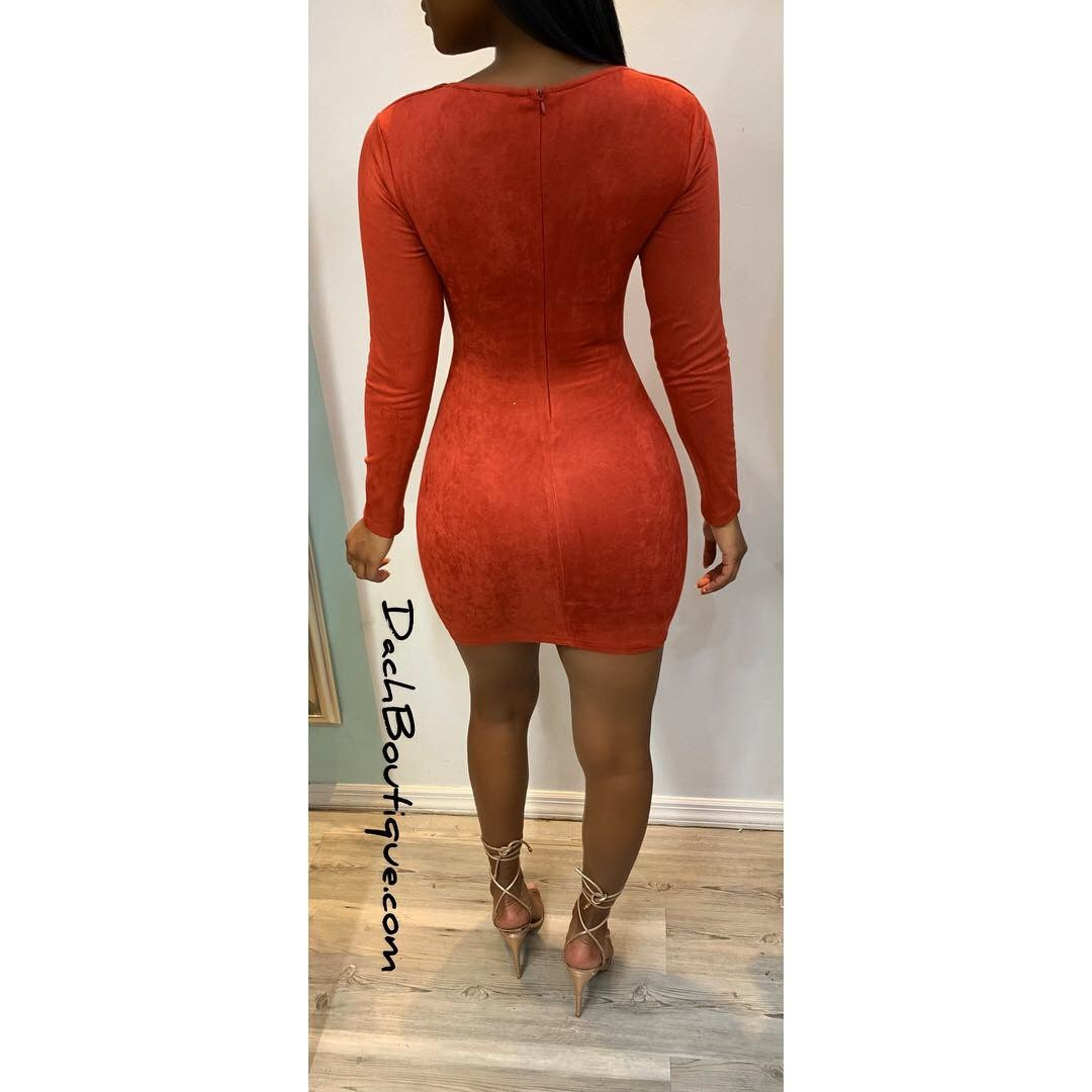 Image of Suede Dress