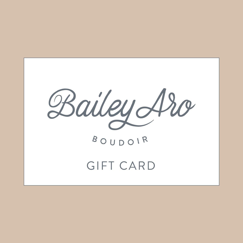 Image of Bailey Aro Boudoir Gift Card