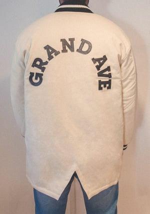 Image of Fishtail Varsity Jacket - Raw wool