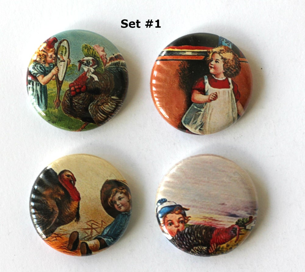Image of Thanksgiving Flair Buttons
