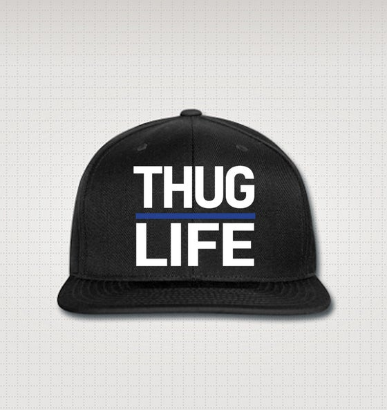 Image of Thuglife Snapback - Blue Stripe