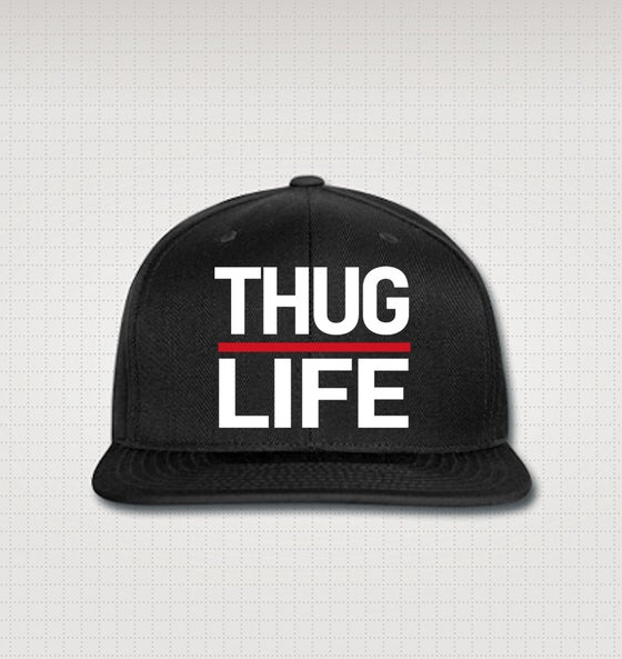 Image of Thuglife Snapback - Red Stripe