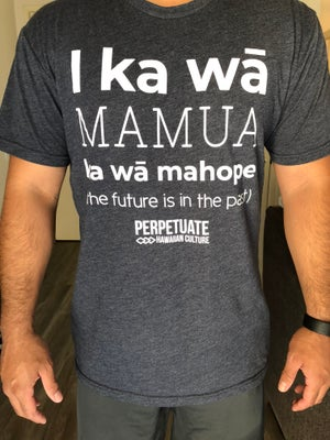 Image of I ka wā (Midnight Blue) Adult Unisex Shirt