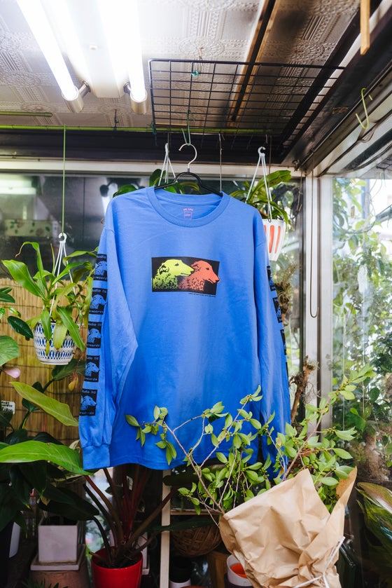 Image of LQQK Studio x BIG LOVE Records Blue Long T-shirt