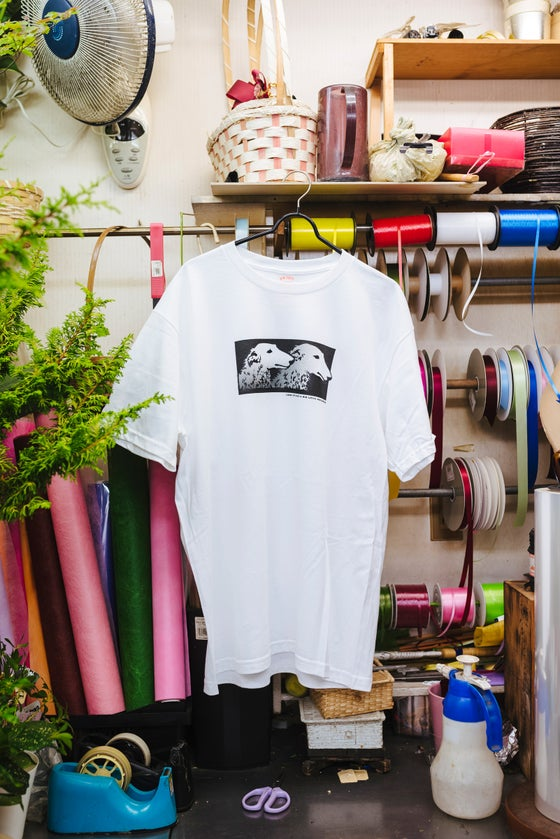 Image of LQQK Studio x Big Love Records White T-shirt