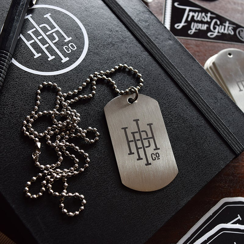 Image of Engraved IHPC Stainless Steel Dogtag Necklace