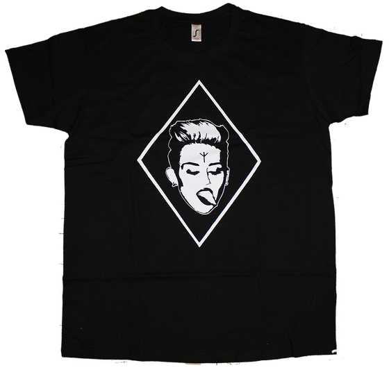 Image of Algiz Miley, T-Shirt (White on Black)