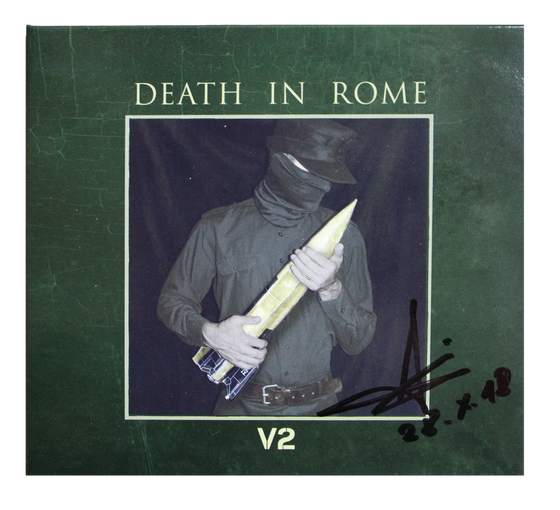 "Image of DEATH IN ROME - ""V2""- CD (Signed Copy)"