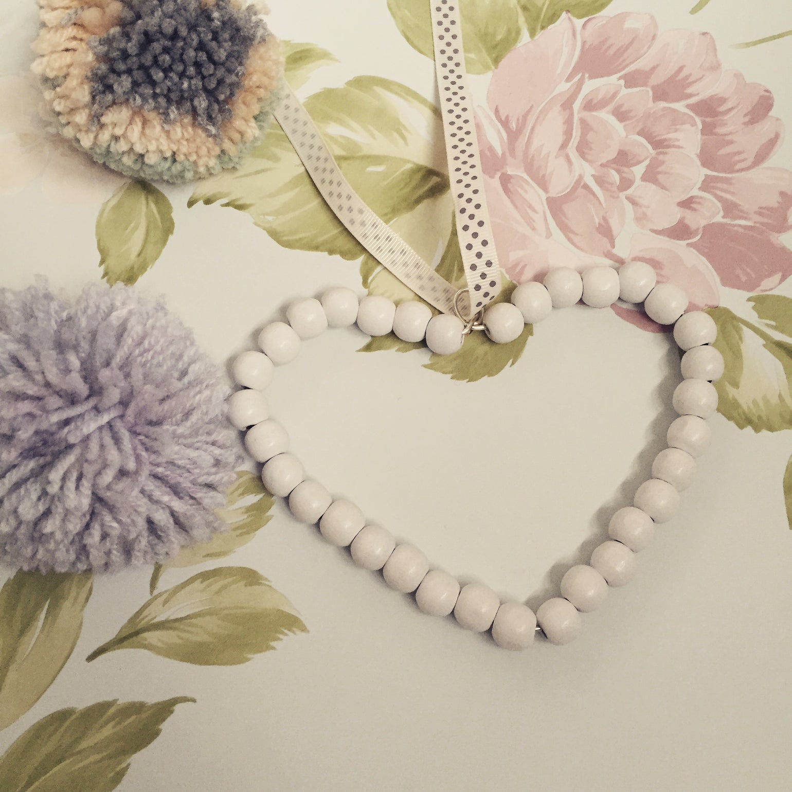 Image of Beaded Heart - One Colour