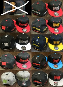 Image of Snap Backs AND Caps - CEPHALOTRIPSY/MORTICIAN/DISGORGE/CBT and more