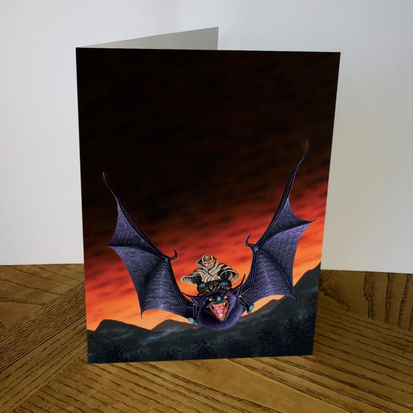Image of Demonstealer greeting card