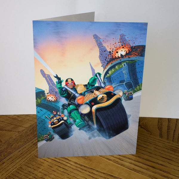 Image of Judge Dredd greeting card
