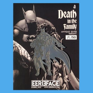 "Image of A Death In The Family- LE Antique Silver Variant, 3"" Pin"