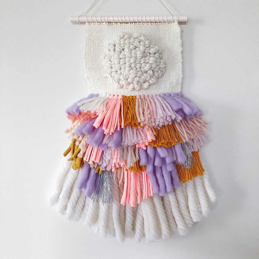 Image of Woven Wall Hanging - Fringe Party III