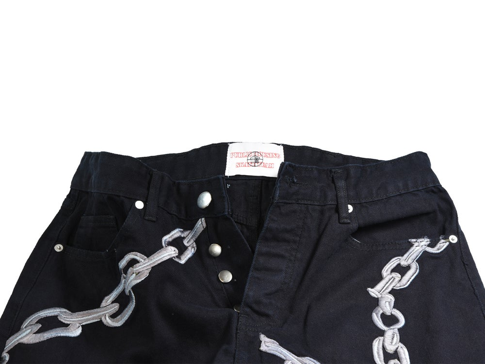 "Image of PHST ""BROKEN CHAIN"" JEANS embroidered"