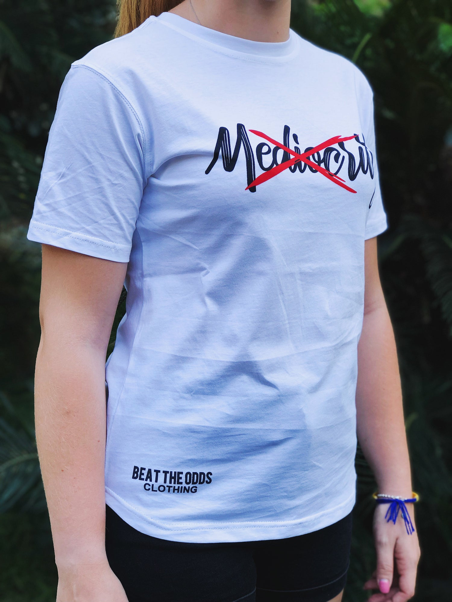 """Image of """"No Mediocrity"""" Tee (White)"""