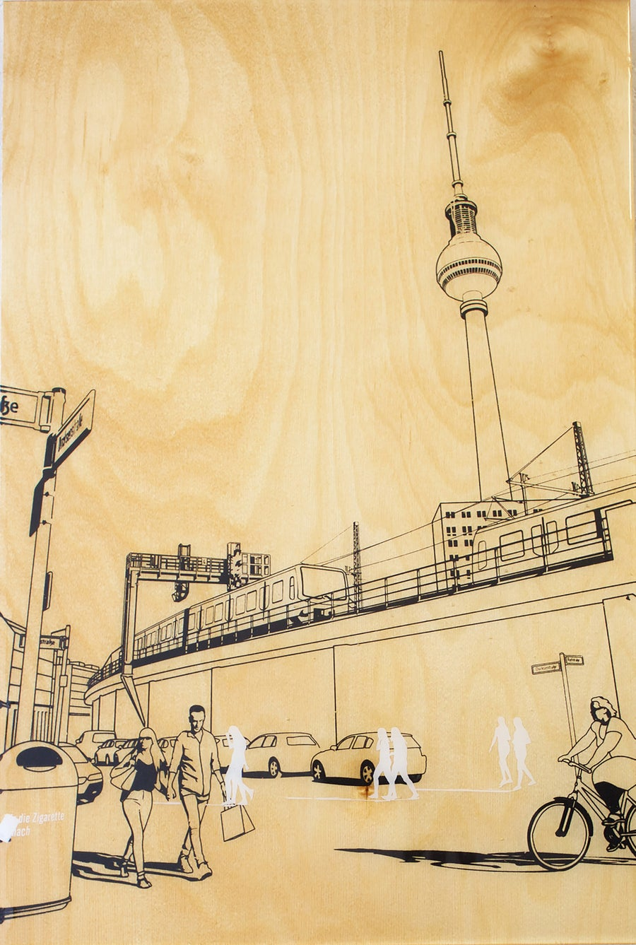 Image of Berlin sketch 40 x 60