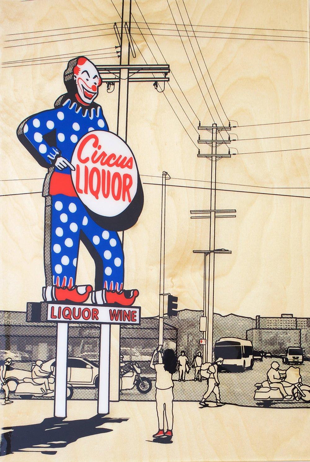 Image of Circus Liquor 40x60cm