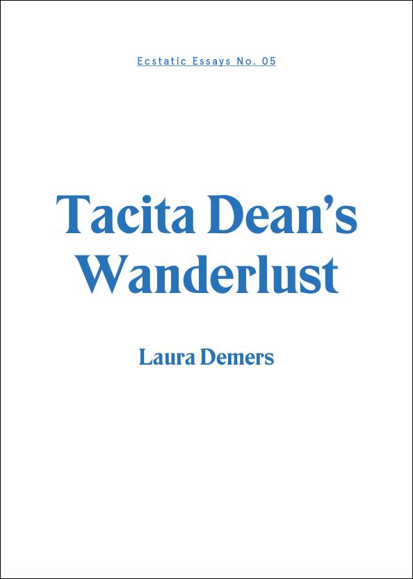 Image of Tacita Dean's Wanderlust: Laura Demers