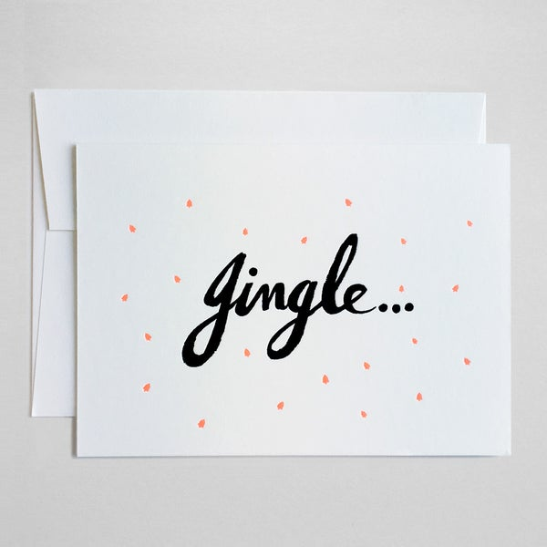 Image of Jingle bells - neon card