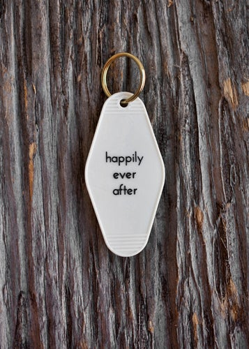 Image of happily ever after keytag
