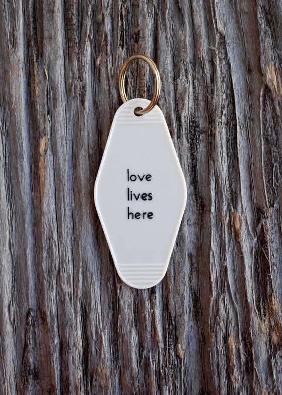 Image of love lives here keytag