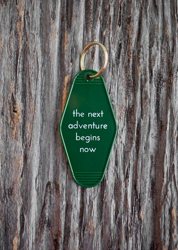 Image of the next adventure begins now keytag