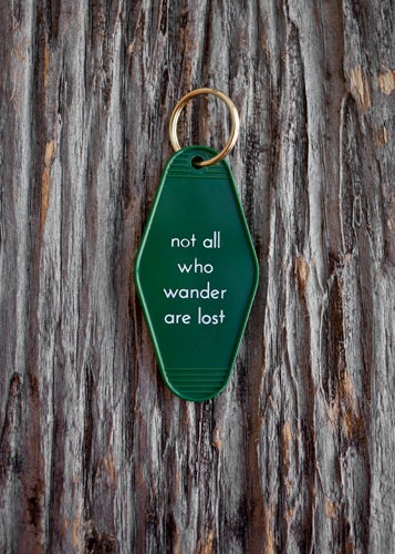 Image of not all who wander are lost keytag