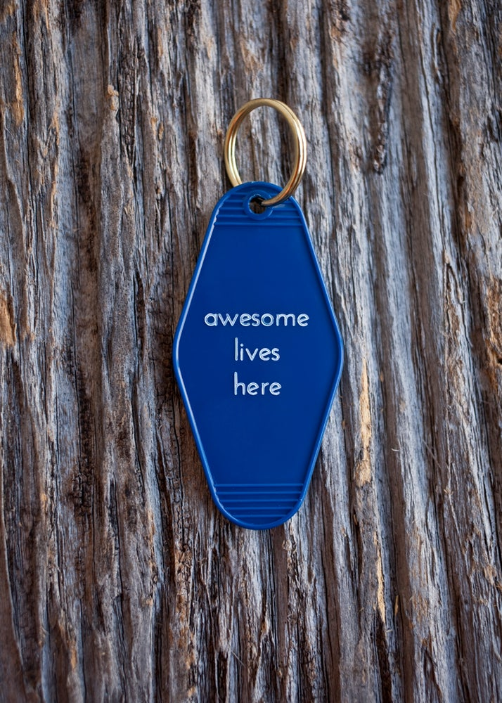 Image of awesome lives here keytag