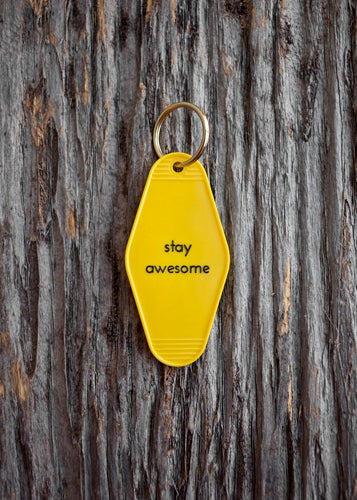 Image of stay awesome keytag