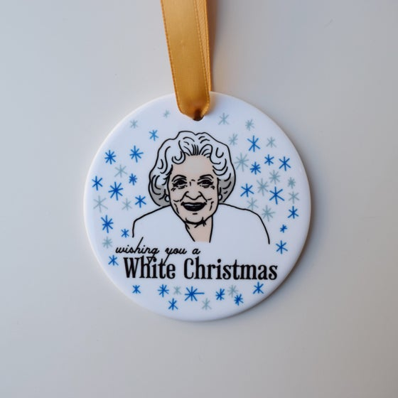 Image of White Christmas ornament