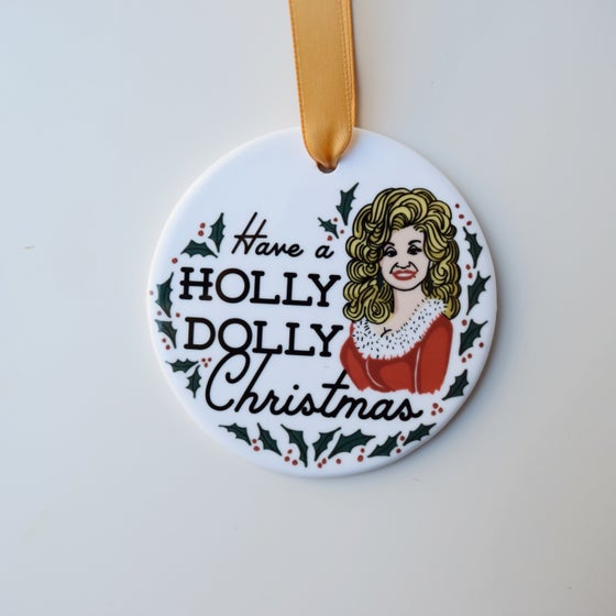 Image of HOLLY DOLLY CHRISTMAS ornament