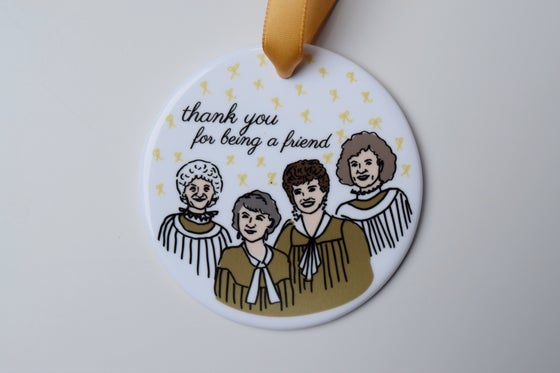 Image of thank you for being a friend ornament
