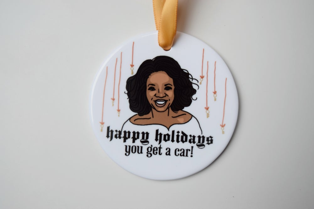 Image of you get a car! ornament