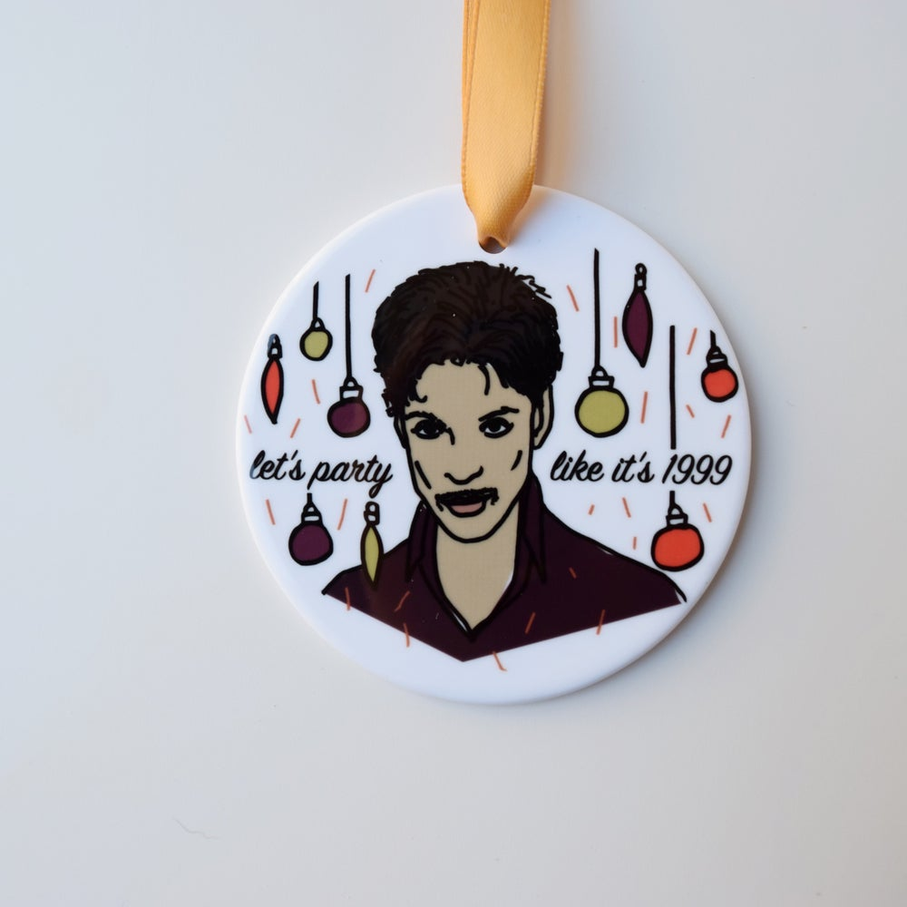 Image of party like it's 1999 ornament