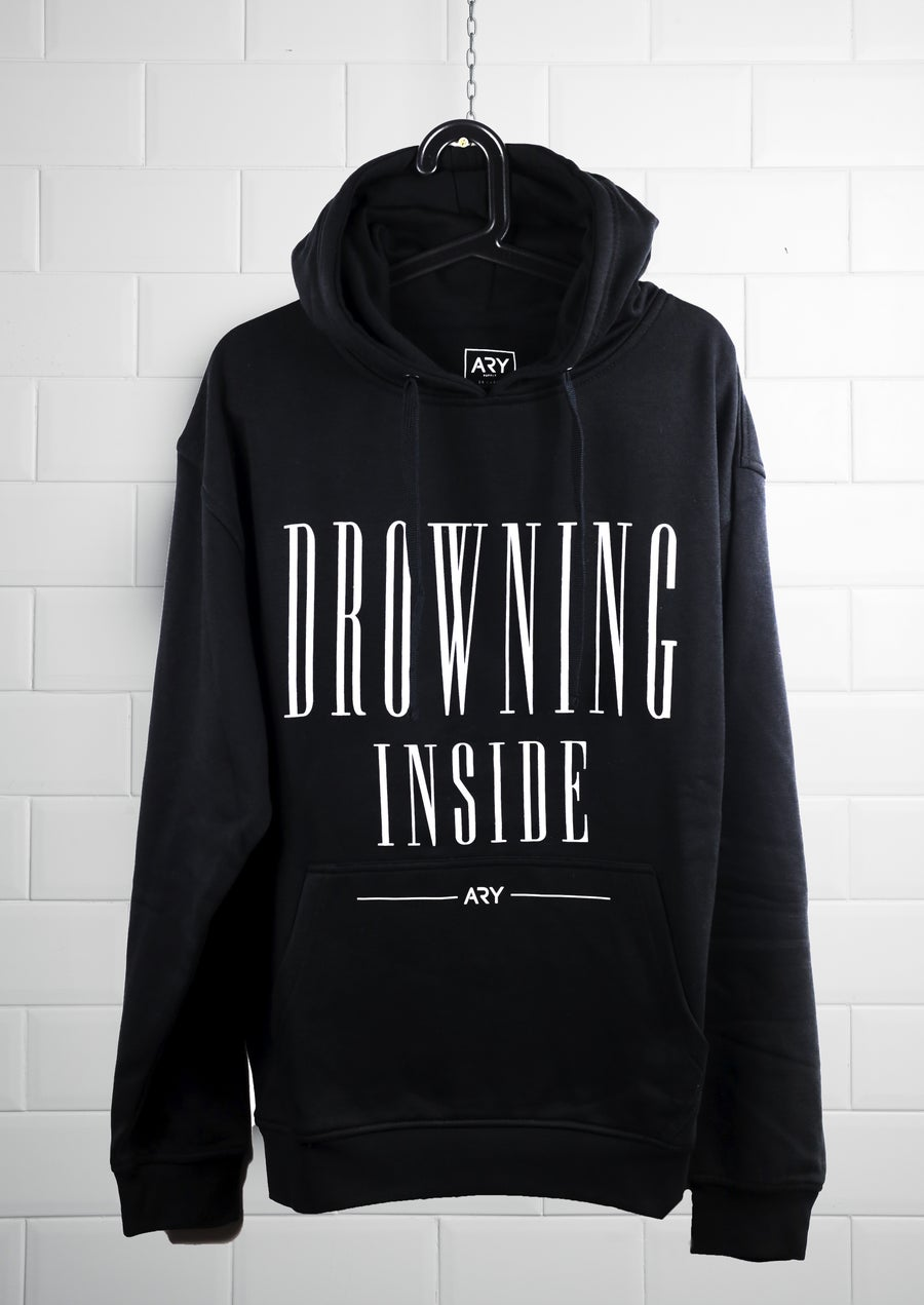 Image of New 'Drowning Inside' Black Hoodie