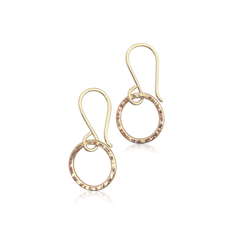 Image of mini hammered looper earrings