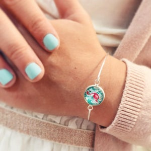Image of Bracelet Flamingo flamant rose